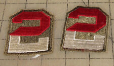 2 Us Army 2nd Army Arm Patches - They look unused