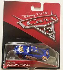 Disney Pixar Cars 3 - Fabulous Lightning McQueen Mattel Diecast Racecar 1:55 HTF