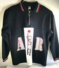 Air Jordan Black/White/Red 1/4 Zip Long Sleeve Sweat/Jacket Pre-Owned Made in US
