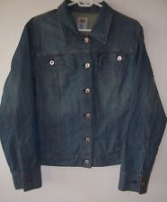 Vintage 80's Women's Dickies Western Cut Denim Jean Rancher Jacket XL
