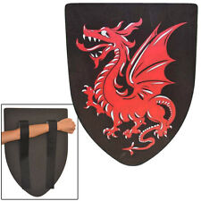 Medieval Fantasy Foam Red Dragon Cosplay Costume Shield LARP