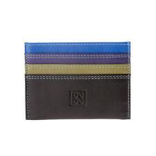 DuDu Porta carte di credito colorato in pelle Nappa Marrone Woods con 6 tasche