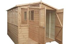 10x10 Potting Shed Combo WOODEN SHED) (GARDEN SHED) (WORKSHOP) (GREEN HOUSE)