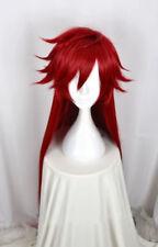 Kuroshitsuji Black Butler Grell Sutcliff Cosplay Perücke wig lang Rot dream 100