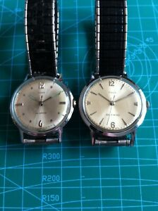 Vintage lot of 2 Timex Manual/Self-Winding