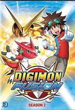DIGIMON FUSION SEASON 2 New Sealed 5 DVD Set