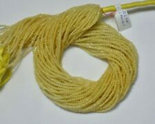 Natural Yellow Calcite 2.10MM Gemstone Faceted Rondelle Beads 12.5 Inch Strand