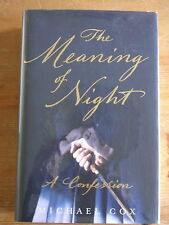 The Meaning of Night - Michael Cox Signed, Lined & Dated + Flyer & Postcard