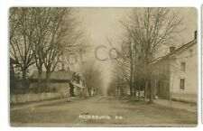 RPPC Street View of RAINSBURG PA Rare town! Bedford County Real Photo Postcard