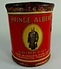 "VTG - Prince Albert Crimp Cut Pipe Cigarette Tobacco Ornate Tin 5"" Diameter"