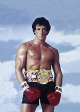Rocky Balboa Boxing Vintage Movie Poster Print A4 260gsm