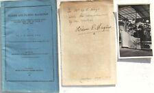 Hiram Maxim Early Aviation Pioneer Inventor Maxim Machine Gun Signed Letter Rare