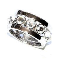 AGATHA Bague plaqué argent cristal blanc T 50 bijou ring A1