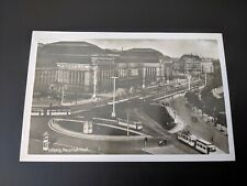 Postcard RPPC Leipzig Central Trai Station 1941 Imperial Trade Fair City Stamps