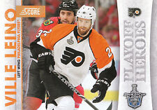 10/11 SCORE PLAYOFF HEROES STANLEY CUP #18 VILLE LEINO FLYERS *9021