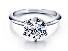 1.00Ct Round Cut Engagement Ring 14K Solid Gold