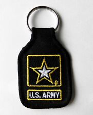 ARMY US ARMY EMBLEM LOGO EMBROIDERED KEY CHAIN KEY RING 1.75 X 2.75 INCHES