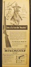 1953 Winchester Gun Rifle Take a tip from the Mounties Vintage Print AD