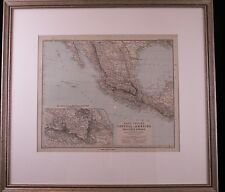 A. Petermann Stielers Hand Atlas No 81 Map of Mexico 1890