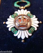 Rare Order of the Yugoslav Crown Box Ribbon Perfect Condition