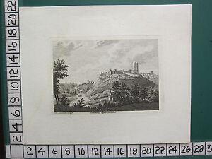 1785 DATED ANTIQUE YORKSHIRE PRINT ~ RICHMOND CASTLE ~