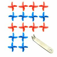 4 Sets 4-blade FPV Propeller Red / Blue CW CCW Props for H36 E010 Tiny Whoop