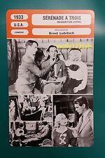 US Pre-code Comedy film design For Living Gary Cooper  French Film Trade Card
