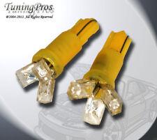(1 Pair) Set of 2 pcs Instrument Gerneral T5 3 Yellow LED Light Bulbs 2721 74