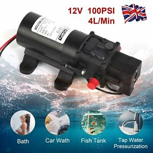 100PSI 4L/Min High Pressure Diaphragm Water Pump For RV Caravan Boat Garden