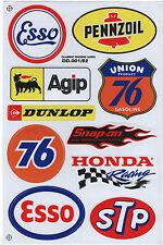 STP UNION 76 ESSO Retro Aufkleber Oldschool Karo Hot Rod Chevy Dodge V8 Gulf vw