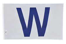 "USA Seller Ship!! Chicago Cubs Win ""W"" flag White and Blue Fly The W Wrigley 3x5"