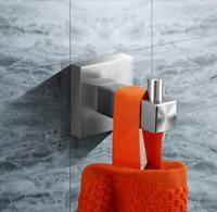 Brushed Nickel 304 Stainless Steel Bathroom Coat Robe Hat Towel Hanger Rack Hook