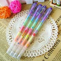 2pcs  Office Stationary Creative Gifts 6 Color In 1  Ink Chalk Pencil Gel Pen
