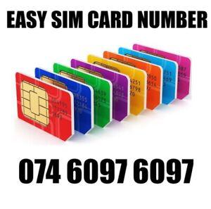 GOLD EASY VIP MEMORABLE MOBILE PHONE NUMBER DIAMOND PLATINUM SIMCARD 6097 6097
