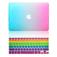 """Hard Rubberized Case + Keyboard Cover for Macbook Air Pro Retina 11"""" 12"""" 13"""" 15"""""""