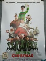 Arthur Christmas Movie Poster Double Sided Rolled Used Original