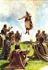 """Reprint - """"Jesus Ascends To Heaven"""" By Richard Hook - On 11"""" X 17"""" Card Stock"""