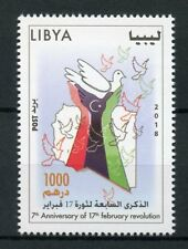 Libya 2018 MNH 17th Febuary Revolution 1v Set Doves Historical Events Stamps