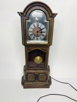 "Vintage Sunbeam Tempus Fugit Grandfather Quartz Clock Table Top or Wall 19"" Tall"