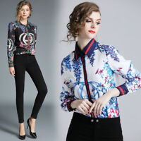 2019 Spring Summer Fall Runway Floral Print Collar OL Casual Women Shirt Blouse