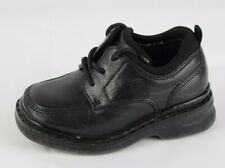 Tommy Hilfiger vintage baby toddler boy lace up shoes black leather size 6.5 W