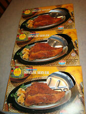 Lot of 3 Vintage Nordic Ware Sizzler Server Steak Plates VGUC