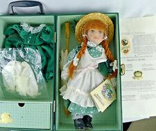 Anne of Green Gable Porcelain Doll Limited Edition With Trunk And Outfits 12 In.
