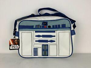 STAR WARS Lucasfilm HMB Disney R2D2 Roboter Umhängetasche Weekender Bag Weiß