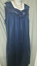 SWEET AND SEXY  NAVY BLUE  ANKLE LENGTH BABYDOLL NIGHTGOWN WOMEN PLUS SZ 2X GIFT