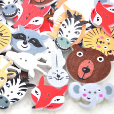 New 50pcs Mix Animal Wood Buttons Sewing Mix Lots WB237