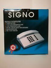 Signo Landline phone NEW grey digital corded telephone