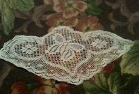 Antique French Lace Scrap Applique Trim Remnant Figural Butterfly Design Collage