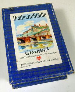Quartett Kartenspiel Deutsche Städte W. Wilhelmsmeyer Bielefelder 1019