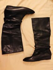 Loeffler Randall Italian Designer Leather Knee High Boots Size 10/41